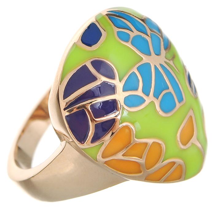Кольцо Arabesca, цвет: золотистый. Размер 18. 6002020860020208Оригинальное кольцо Arabesca, выполненное из металла с гальваническим золотистым покрытием, декорировано разноцветной эмалью. Кольцо позволит вам с легкостью воплотить самую смелую фантазию и создать собственный, неповторимый образ.