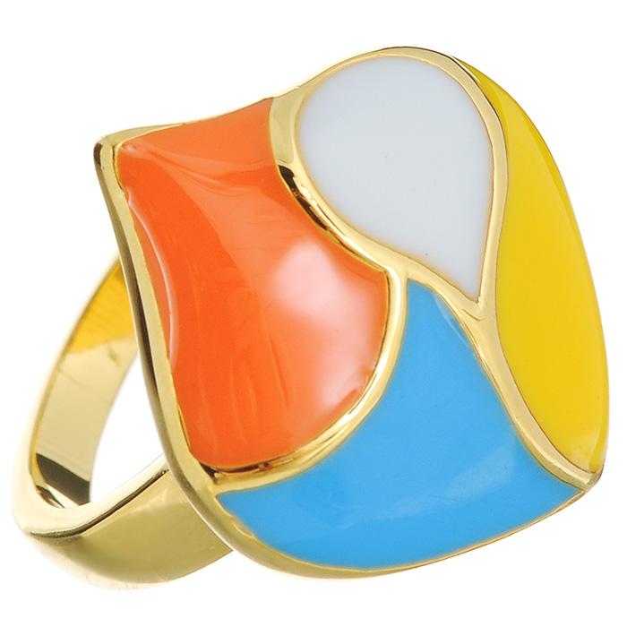Кольцо Arabesca, цвет: золотистый. Размер 18. 6002022860020228Оригинальное кольцо Arabesca, выполнено из металла с гальваническим покрытием позолота, украшено разноцветной эмалью. Такое кольцо позволит вам с легкостью воплотить самую смелую фантазию и создать собственный, неповторимый образ.