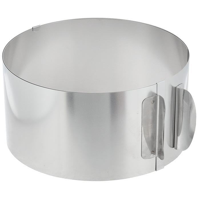 Кольцо для выпечки Gefu, высота 8,5 см14308Кольцо для выпечки Gefu изготовлено из нержавеющей стали. Конструкция кольца такова, что позволяет регулировать диаметр от 16,5 см до 32 см. Может использоваться для приготовления тортов и салатов. Для облегчения процесса чистки полностью выпрямляется. Можно мыть в посудомоечной машине. Характеристики: Материал: нержавеющая сталь. Диаметр кольца: 16,5-32 см. Высота стенки кольца: 8,5 см. Размер упаковки: 17 см х 17 см х 8,5 см. Артикул: 4308.