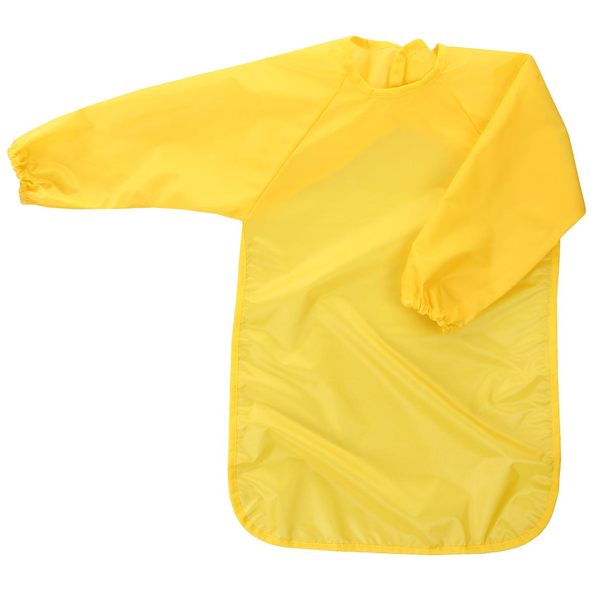 Фартук для детского творчества Спортбэби, цвет: желтый. Возраст 5-6 летзо.0012_желтыйУниверсальный фартук для детского творчества Спортбэби надежно защитит одежду и руки ребенка во время занятий рисованием, лепкой и ручным трудом. Фартук с двумя рукавами изготовлен из плотного полиэстера желтого цвета. Он надевается спереди как накидка и застегивается на спине с помощью липучки. С фартуком Спортбэби ваш малыш сможет смело рисовать, не боясь испачкаться о свой шедевр, лепить из пластилина и заниматься многими творческими делами. Также фартук удобен при кормлении.