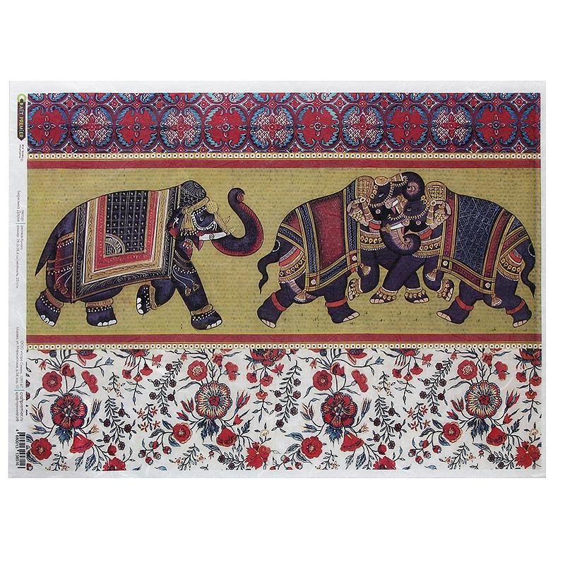 Рисовая бумага для декупажа Craft Premier Индийские слоны, 28,2 см х 38,4 смСР08516Рисовая бумага - мягкая бумага с выраженной волокнистой структурой легко повторяет форму любых предметов. При работе с этой бумагой вам не потребуется никакой дополнительной подготовки перед началом работы. Вы просто вырезаете или вырываете нужный фрагмент, и хорошо проклеиваете бумагу на поверхности изделия. Рисовая бумага для декупажа идеально подходит для стекла. В отличие от салфеток, при наклеивании декупажная бумага практически не рвется и совсем не растягивается. Клеить ее можно как на светлую, так и на темную поверхность. Для новичков в декупаже - это очень удобно и гарантируется хороший результат. Поверхность, на которую будет клеиться декупажная бумага, подготавливают точно так же, как и для наклеивания салфеток, распечаток и т.д. Мотив вырезаем точно по контуру и замачиваем в емкости с водой, обычно не больше чем на одну минуту, чтобы он полностью впитал воду. Вынимаем и промакиваем бумажным или обычным полотенцем с двух сторон. Равномерно наносим клей на оборотную...