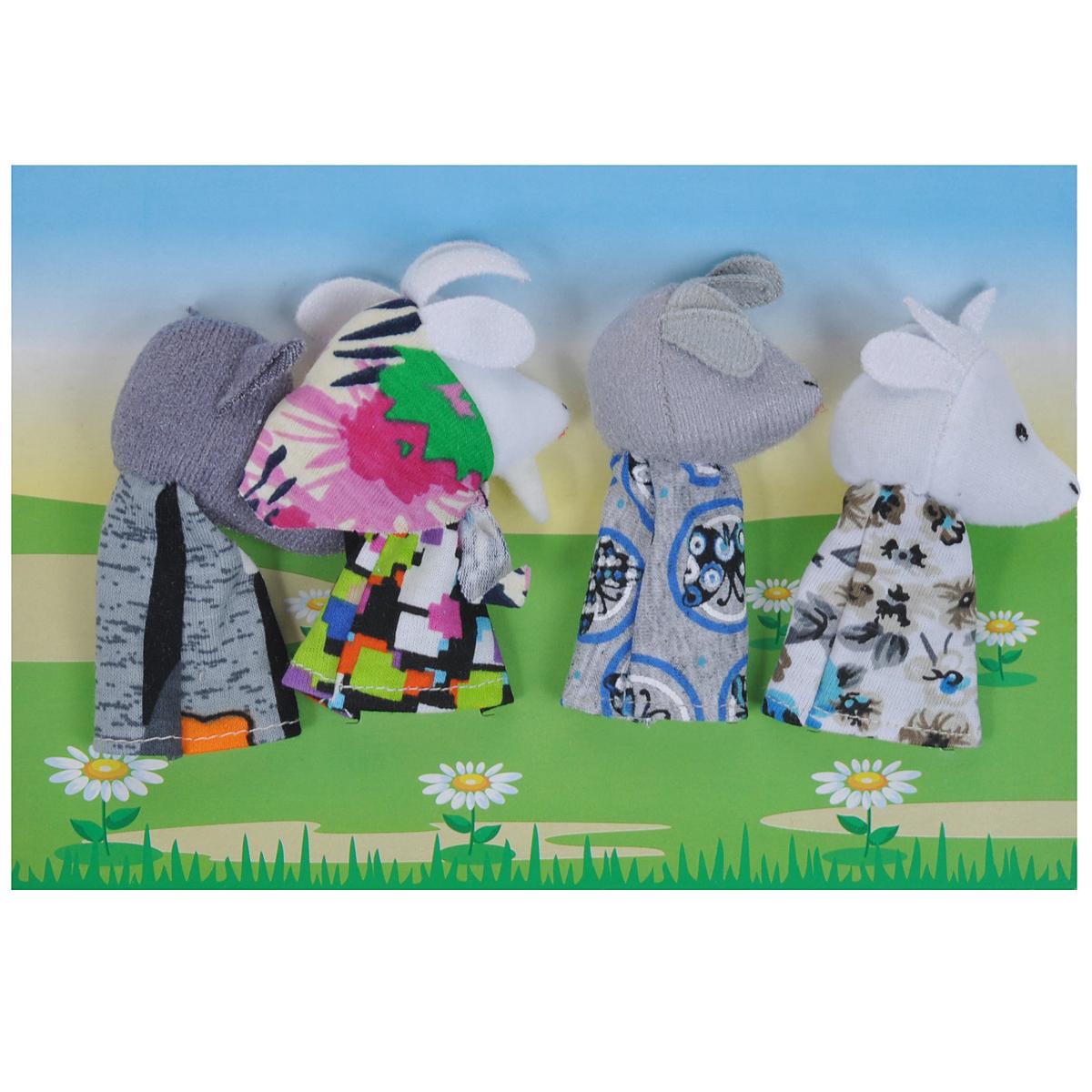 Пальчиковый театр Волк и семеро козлят, 4 предмета017.10Пальчиковый театр Волк и семеро козлят - это набор развивающих мягких игрушек, состоящий из фигурок надеваемых на пальцы руки взрослого или ребенка. В комплекте пальчиковые куклы, 4 штуки: мама-коза, два козленка, волк. Рекомендуем работать разными парами пальцев, разными руками и обеими руками одновременно. Фигурки изображают известных сказочных героев. Все персонажи очень яркие, мягкие. Маленькие фигурки пальчикового театра создадут Вам компанию во время прогулки или посещения поликлиники, в дороге. Они не займут много места в маминой сумочке и помогут развлечь малыша. С их помощью можно оживить любимые стихи, сказки, потешки. Незамысловатая игрушка развивает интонацию, исполнительские умения, творческие способности в передаче образа, мелкую моторику. Театрализованные игры создают эмоциональный подъем, повышают жизненный тонус ребенка. Характеристики: Материал: текстиль. Высота одной фигурки: 8 см Размер упаковки: 25,5 см x 24 см x 1,5...