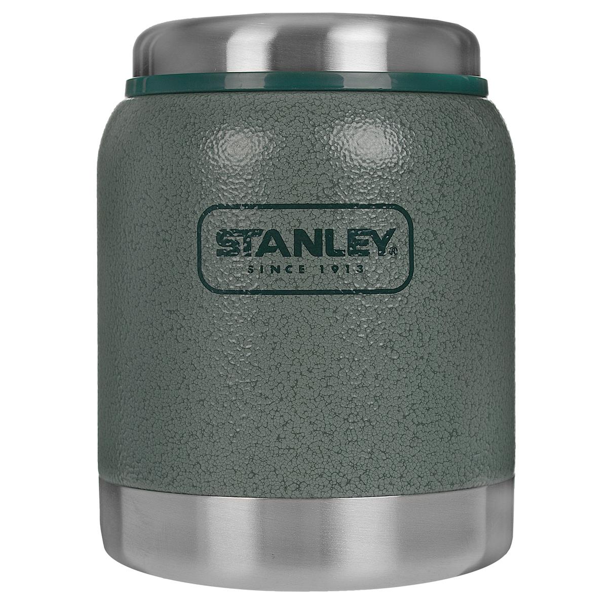 Термос Stanley Adventure Food, с широким горлом, цвет: зеленый, 0,41 л10-01610-006Термос Stanley Adventure Food с широким горлом выполнен из высококачественной антикоррозийной стали. Крышка из стали и пластика обеспечивает герметичность и способствует сохранению температуры в течение длительного времени (8 часов). Крышка снабжена силиконовым кольцом-уплотнителем.Термос не боится вибрации и легких ударов. Термос пригоден для хранения не жидкой горячей пищи. Диаметр горла: 7,2 см. Гарантийный срок 5 лет. Возврат товара возможен только через сервисный центр. Гарантийный центр: м. ВДНХ, Ботанический сад 129223, г. Москва, Проспект Мира, 119, ВВЦ, строение 323 +7 495 974 3494 service@omegatool.ru Время работы сервисного центра: Пн-чт: 10.00-18.00 Пт: 10.00- 17.00 Сб, Вс: выходные дни