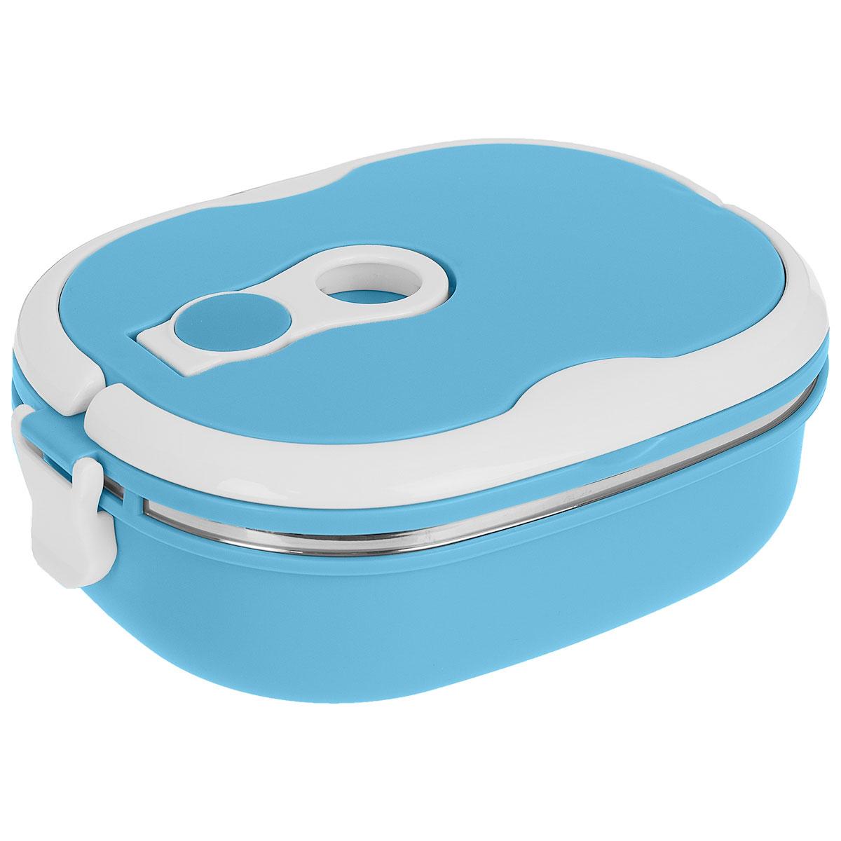 Термо ланч-бокс Bradex Bento, цвет: синий, 0,9 лTK 0049Компактный термо ланч-бокс Bradex Bento станет незаменимой вещью для офисных работников, водителей, школьников и студентов. Благодаря двойной стенке ланч-бокс сохраняет температуру продуктов в течение 4-5 часов, поэтому вы сможете насладиться теплым обедом и вне дома. Ланч-бокс имеет абсолютно герметичную конструкцию и складные ручки для удобства переноски, также он пригоден для мытья в посудомоечной машине.