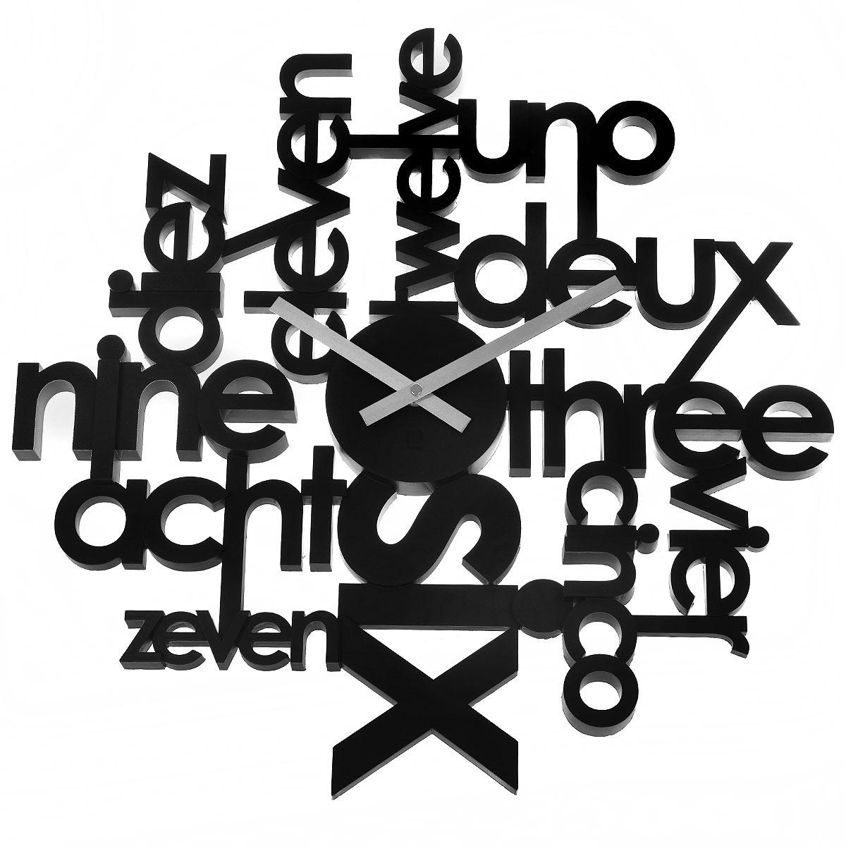 """Часы настенные """"Lingua"""", цвет: черный. 118990-040"""