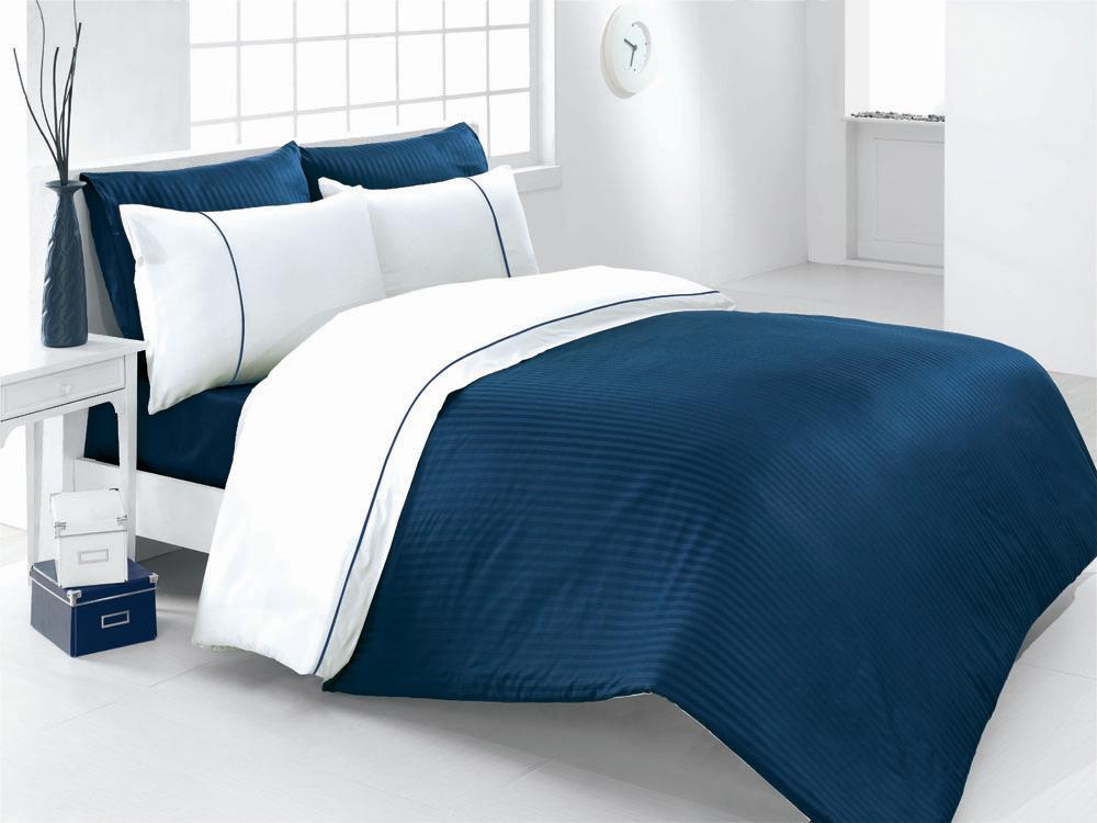 Комплект белья Vira (евро КПБ, страйп-сатин, 4 наволочки 50х70), цвет: сине-белыйVira LacivertКомплект постельного белья Vira, изготовленный из страйп-сатина высокого качества, поможет вам расслабиться и подарит спокойный сон. Комплект состоит из пододеяльника, простыни и четырех наволочек. Постельное белье выполнено в сине-белой гамме в полоску. Все белье Issimo - это образец качества. Ровные швы, качественный хлопок, четкие рисунки на тканях, которые не полиняют и не потеряют яркости долгое время - все это говорит о строгом отношении производителя к своей продукции. Белье сшито из страйп-сатина - блестящей и плотной ткани с жаккардовым плетением в виде чередующихся полос со сменой направления нитей. Постельное белье из страйп-сатина красивое, благородное, с ярко выраженным шелковистым блеском. При этом оно очень прочное и долговечное. Благодаря такому комплекту постельного белья вы сможете создать атмосферу роскоши и романтики в вашей спальне.