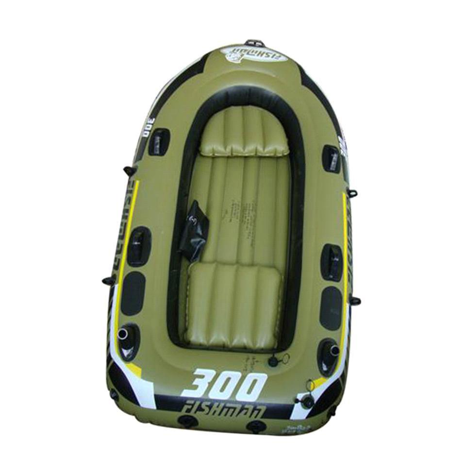 Лодка надувная Jilong Fishman 300 Set, с веслами и насосом, цвет: темно-зеленый, 252 см х 125 см х 40 смJL007208-1NЛодка отлично подходит для рыбалки, плавания по речкам и озерам. Материал лодки имеет высокую прочность. Он стоек к воздействию бензина, морской воды. В комплектацию входит трос. На лодку есть возможность установить мотор. Для этого нужно докупить транец. По бокам лодки установлены держатели для весел и удочек. Особенности: Пластиковые весла; Ручной насос; Надувной пол; Двухуровневые сидения; Возможна подвеска электромотора; Держатели для удочек; Крепление для весел; Держатель для весел; Стропа по периметру лодки; 2-х камерная конструкция лодки для большей безопасности; Самоклеящаяся заплатка в комплекте. Характеристики: Размер лодки: 252 см х 125 см х 40 см. Материал: ПВХ. Максимальная грузоподъемность: 265 кг. Размер упаковки: 56,5 см х 23,5 см x 37 см. Производитель: Китай. Артикул: JL007208-1N.