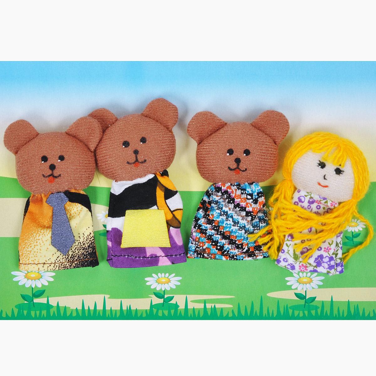 Пальчиковый театр Три медведя, 4 предмета017.05Пальчиковый театр Три медведя - это набор развивающих мягких игрушек, состоящий из фигурок надеваемых на пальцы руки взрослого или ребенка. В комплекте пальчиковые куклы, 4 штуки: три медведя и девочка Маша. Рекомендуем работать разными парами пальцев, разными руками и обеими руками одновременно. Фигурки изображают известных сказочных героев. Все персонажи очень яркие, мягкие. Маленькие фигурки пальчикового театра создадут Вам компанию во время прогулки или посещения поликлиники, в дороге. Они не займут много места в маминой сумочке и помогут развлечь малыша. С их помощью можно оживить любимые стихи, сказки, потешки. Незамысловатая игрушка развивает интонацию, исполнительские умения, творческие способности в передаче образа, мелкую моторику. Театрализованные игры создают эмоциональный подъем, повышают жизненный тонус ребенка. Характеристики: Материал: текстиль. Высота одной фигурки: 8 см Размер упаковки: 25,5 см x 24 см x 1,5 см. ...