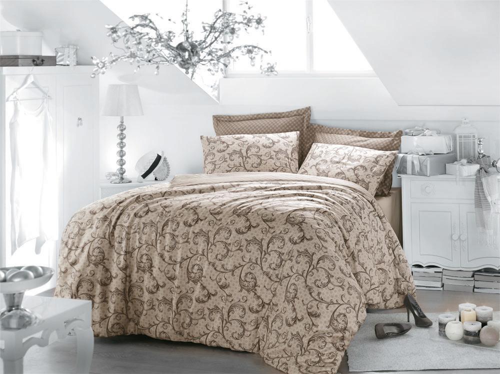Комплект белья Caramia (1,5 спальный КПБ, сатин, наволочка 50х70), цвет: крем-брюле