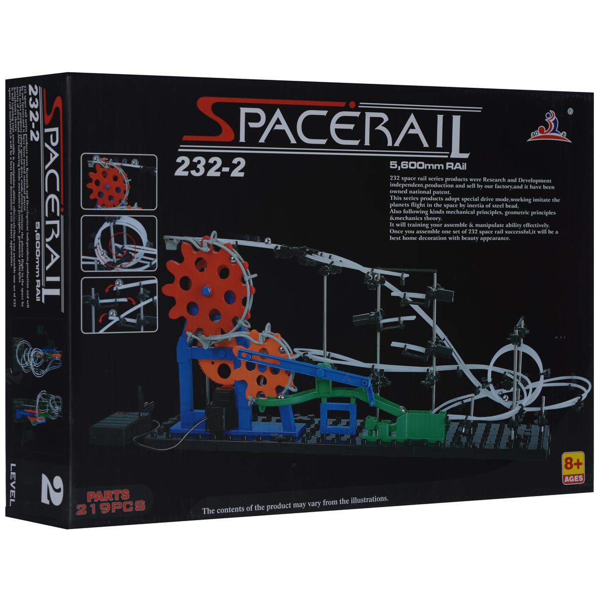 Space Rail Конструктор Уровень 2 232-2232-2Конструктор Space Rail - космическая трасса, представляет собой отличную пространственную головоломку, которая увлечет всю семью от мала до велика! Процесс сборки доставит удовольствие и детям, и родителям, а запуск космической трассы приведет всех в восторг. Вы сможете построить захватывающие дороги общей длиной до 5,6 метров и сами задать траектории, по которым стремительно будут проноситься металлические шарики. Это интереснейший аттракцион, напоминающий американские горки, за которым можно наблюдать часами. Комплект включает 219 элементов для сборки модели, в том числе 7 металлических шариков, а также схематичную инструкцию, которая позволит собрать конструкцию правильно и быстро. Сборка конструктора поможет ребенку развить пространственное мышление и фантазию. Собранная модель станет изюминкой вашего дома и привлечет внимание окружающих. Вы и ваш ребенок сможете гордиться тем, что самостоятельно собрали такой аттракцион.