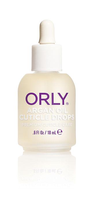 Orly Капли для кутикулы Argan Oil Cuticle Drops с аргановым маслом, 18 мл24500Средство Orly Argan Oil Cuticle Drops разработано на основе уникального масла арганы, которое на 80% состоит из ненасыщенных жирных кислот. Также в его состав входят антиоксиданты и витамины А, Е. Входящие в состав компоненты способствуют снятию воспаления и быстрому восстановлению сухой обезвоженной кутикулы, интенсивно питают и возвращают ногтям здоровый ухоженный вид. Средством легко пользоваться, так как оно имеет удобный пузырек, обеспечивающий капельное нанесение. Способ применения : нанести небольшое количество масла на зону кутикулы и втереть массажными движениями в кожу вокруг ногтя. Рекомендовано для ежедневного использования.