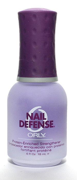 Orly Покрытие для слоящихся ногтей Nail Defense, 18 мл24420Обогащенная белком формула покрытия Orly Nail Defense обеспечивает защиту и укрепление ногтевой пластины. Стимулирует рост крепких ногтей, предотвращая их расслаивание. Протеин, который входит в состав препарата, осуществляет склеивание чешуек ногтей между собой, а также запечатывание свободного края для предотвращения его расслаивания. Способ применения : если ногти слоятся очень сильно, то первые 2 недели наносить через день послойно. В дальнейшем использовать как базу и верхнее покрытие в течение 2-3 месяцев.