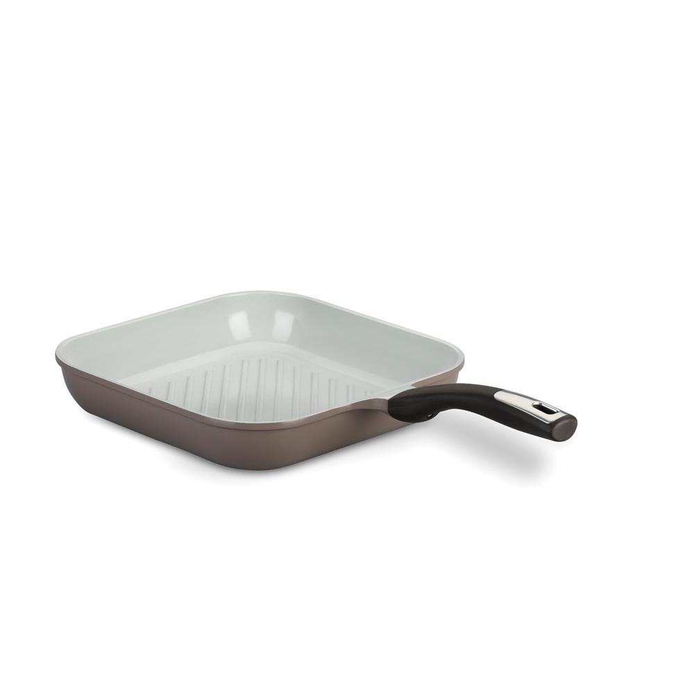 Сковорода-гриль Korkmaz Natura Plus с керамическим покрытием, 28 см х 28 см