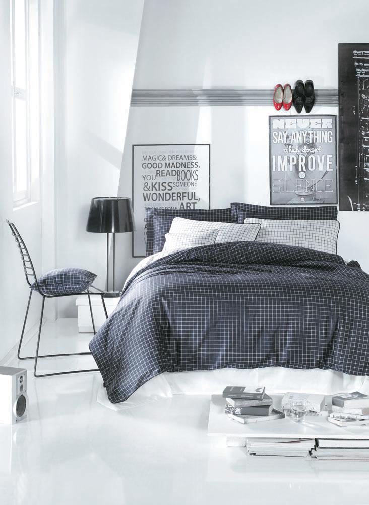 Комплект белья Cosmopolit (1,5 спальный КПБ, сатин, 2 наволочки 50х70), цвет: темно-серый, белыйCosmopolitКомплект постельного белья Cosmopolit, изготовленный из сатина высокого качества, поможет вам расслабиться и подарит спокойный сон. Комплект состоит из одного пододеяльника, простыни и двух наволочек. Постельное белье Cosmopolit - очень стильный комплект. Сочетание белого с благородным серым оттенком, и классической клетки делает его универсальным для использования в любых случаях. Белье сшито из сатина - блестящей и плотной ткани, которая изготавливается из крученой хлопковой нити двойного плетения, что придает ей яркость и блеск. Своими свойствами он схож с шелком и кашемиром. Сатин из египетского хлопка отличает от остальных отсутствие линта (хлопкового пуха), поэтому со временем белье не обрастает катышками! Это белье выдерживает более 300 стирок, не теряя своей первоначальной прелести и не тускнея, и его практически не нужно гладить! Благодаря такому комплекту постельного белья вы сможете создать атмосферу роскоши и романтики в вашей спальне....