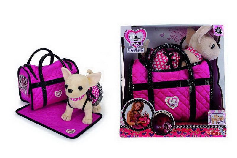 Simba Мягкая игрушка Чихуахуа, с аксессуарами, 20 см5899700Очаровательная мягкая игрушка Чихуахуа, выполненная в виде симпатичной собачки в розовом платьице с черненькими кружевными рюшами, непременно понравится маленьким модницам. Платье чихуахуа светится в темноте. Чудесная мягкая игрушка принесет радость и подарит своей обладательнице мгновения нежных объятий и приятных воспоминаний. Игрушка изготовлена из мягкого плюша, глазки и носик пластиковые. У собачки гнутся лапки. В комплект с игрушкой входит плед для собачки и сумочка, в которой предусмотрено специальное окошко сеточкой для питомца. Порадуйте свою малышку таким замечательным подарком! Характеристики: Материал: текстиль, пластик. Высота игрушки: 20 см. Размер упаковки: 29 см х 17 см х 30 см. Изготовитель: Китай.