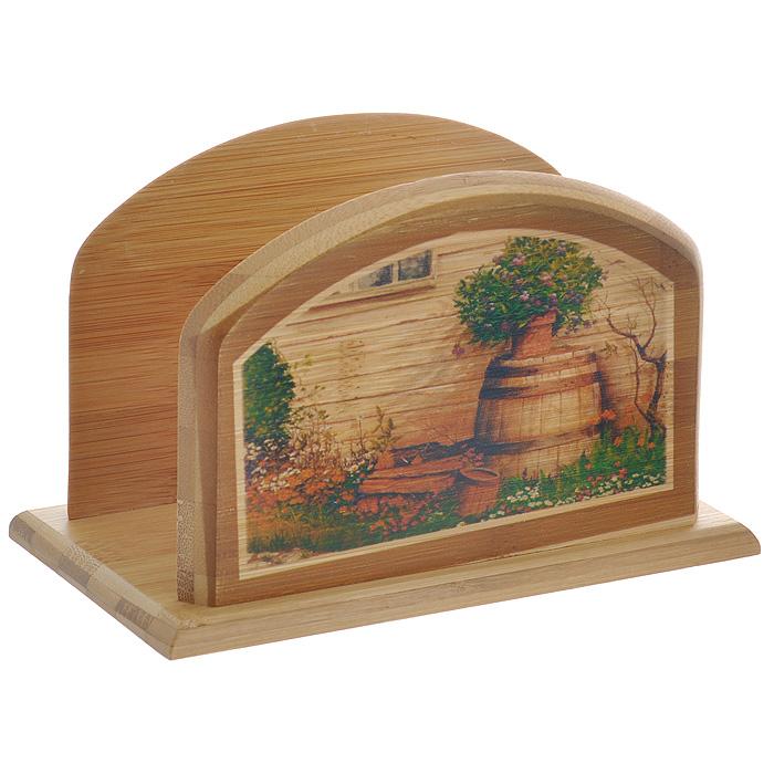 Держатель для салфеток Hans & Gretchen. 32HS-500132HS-5001Оригинальный держатель для салфеток Hans & Gretchen изготовлен из дерева и декорирован оригинальным рисунком. Очень удобный и стильный он предназначен для хранения салфеток. С помощью специального отверстия вы можете подвесить его в любом удобном для Вас месте. Держатель для салфеток прекрасно подойдет к интерьеру Вашей кухни или профессиональных заведений - кафе, ресторанов, а также будет отличным подарком!