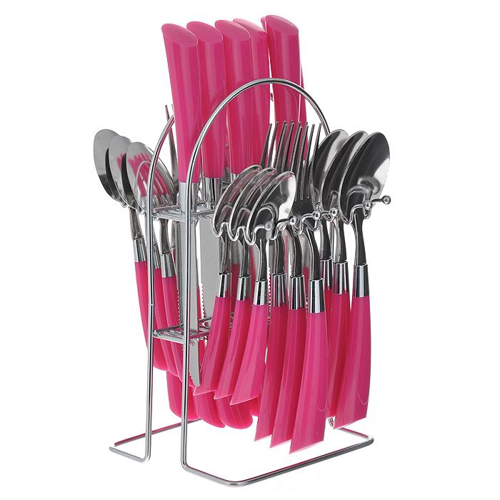 """Набор столовых приборов """"Mayer & Boch"""", цвет: розовый, 25 предметов. 20687-1"""
