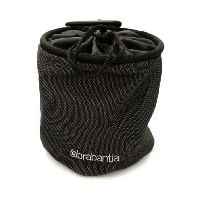 Мешок для прищепок Brabantia, цвет в ассортименте. 420283420283Прочные и долговечные мешки для прищепок Brabantia изготовлены из высококачественной ткани черного цвета и коррозионно-стойких материалов. Мешок для прищепок Brabantia легко крепится к сушилке или поясу с помощью карабина. Теперь прищепки всегда будут под рукой! Горловина мешка затягивается с помощью шнурка.
