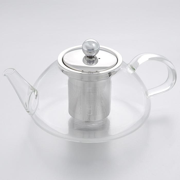 Чайник заварочный Mayer & Boch, 0,6 л. 2077020770Заварочный чайник Mayer & Boch изготовлен из термостойкого боросиликатного стекла - прочного износостойкого материала. Чайник оснащен металлическим фильтром и крышкой. Простой и удобный чайник поможет вам приготовить крепкий, ароматный чай. Дизайн изделия создает гипнотическую атмосферу через сочетание полупрозрачного цвета и хромированных элементов. Можно мыть в посудомоечной машине. Не использовать в микроволновой печи.