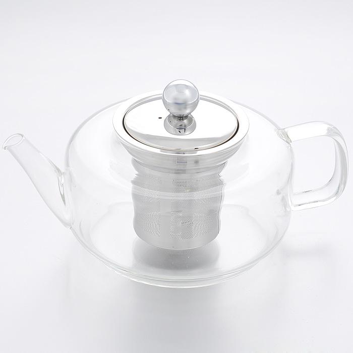 Чайник заварочный Mayer & Boch, 0,45 л. 2076920769Заварочный чайник Mayer & Boch изготовлен из термостойкого боросиликатного стекла - прочного износостойкого материала. Чайник оснащен металлическим фильтром и крышкой. Простой и удобный чайник поможет вам приготовить крепкий, ароматный чай. Дизайн изделия создает гипнотическую атмосферу через сочетание полупрозрачного цвета и хромированных элементов. Можно мыть в посудомоечной машине. Не использовать в микроволновой печи. Диаметр по верхнему краю: 7 см. Высота (без учета крышки): 8 см. Высота фильтра: 7 см.