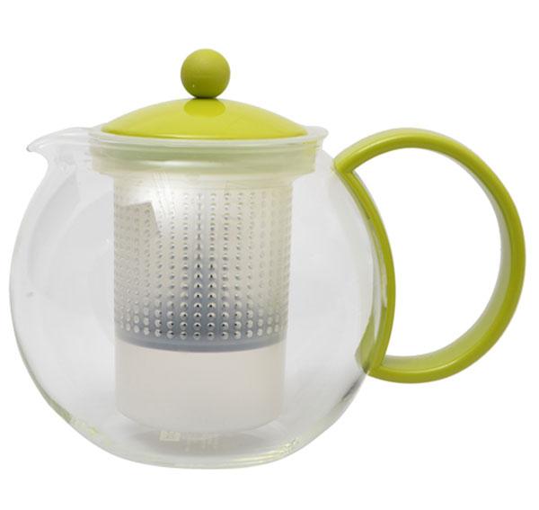 Френч-пресс Bodum Assam, цвет: салатовый, 1 л. 1844-1844-Френч-пресс Bodum Assam, выполненный из стекла, пластика и нержавеющей стали, практичный и простой в использовании. Он займет достойное место на вашей кухне и позволит вам заварить свежий, ароматный чай. Засыпая чайную заварку в фильтр-сетку и заливая ее горячей водой, вы получаете ароматный чай с оптимальной крепостью и насыщенностью. Остановить процесс заварки чая легко. Для этого нужно просто опустить поршень, и заварка уйдет вниз, оставляя вверху напиток, готовый к употреблению. Современный дизайн полностью соответствует последним модным тенденциям в создании предметов бытовой техники. Диаметр френч-пресса по верхнему краю (без учета носика и ручки): 9,5 см. Максимальный диаметр френч-пресса: 15 см. Высота френч-пресса (с учетом крышки): 15 см.