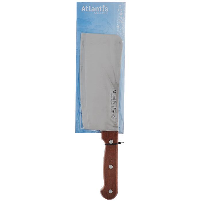 Нож Atlantis Classic, разделочный, длина лезвия 18 см24705-SKНож разделочный Atlantis Classic изготовлен из высококачественной стали. Рукоятка, выполненная из пластика с оформлением под дерево, удобно лежит в руке, не скользит и делает резку удобной и безопасной. Практичный и функциональный нож Atlantis Classic займет достойное место среди аксессуаров на вашей кухне.