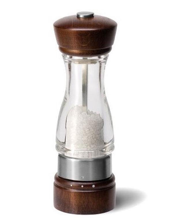 Мельница для соли Keswick, цвет: коричневый. H12302GH12302GМельница для соли Keswick, изготовленная из пластика, легка в использовании. Стоит только покрутить верхнюю часть мельницы, и вы с легкостью сможете посолить по своему вкусу любое блюдо. Механизм мельницы изготовлен из высококачественной стали. Оригинальная мельница модного дизайна будет отлично смотреться на вашей кухне. Мельница уже содержит соль.
