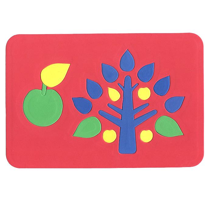 Август Мягкая мозаика Дерево цвет основы красный27-2005Мягкая мозаика Дерево выполнена из мягкого полимера, который дает юному конструктору новые удивительные возможности в игре: детали мозаики гнутся, но не ломаются, их всегда можно состыковать. Мозаика представляет собой рамку, в которой из семнадцати элементов собирается яркое дерево и яблоко. Ваш ребенок сможет собрать деревце и в ванной. Элементы мозаики можно намочить, благодаря чему они будут хорошо прилипать к стене в ванной комнате. Такая мозаика развивает пространственное и логическое мышление, память и глазомер, знакомит с формами и цветом предмета в процессе игры. Характеристики: Размер рамки: 28 см х 19 см х 0,5 см.