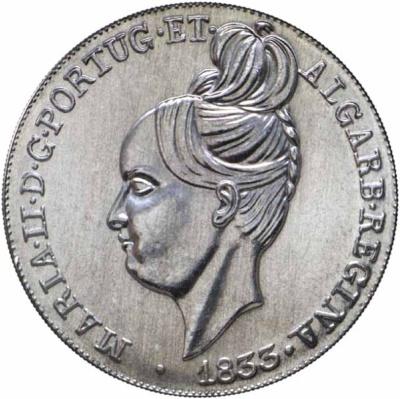 Монета номиналом 5 евро Песа 1833 года королевы Марии II. Португалия, 2013 годF30 BLUEМонета номиналом 5 евро Песа 1833 года королевы Марии II. Португалия, 2013 год Материал: медно-никелевый сплав Диаметр: 30 мм Масса: 14 гр Тираж: 150 000 экз.
