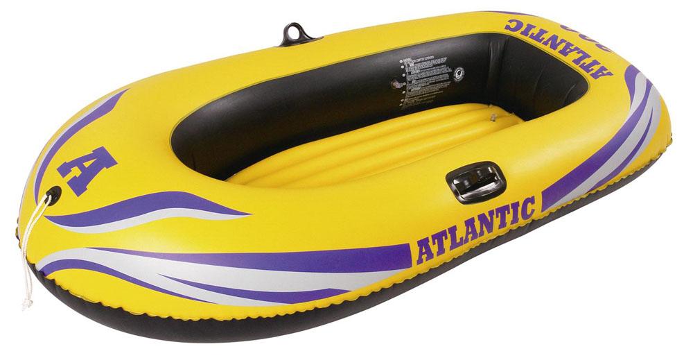 """Лодка надувная Jilong """"Atlantic Boat 100 Set"""", с веслами и насосом, цвет: желтый, 150 см х 100 см JL007228-1NPF"""