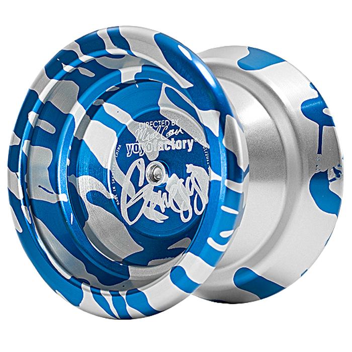 Йо-Йо YoYoFactory Genesis, цвет: синий, серебристыйgenesis/silverПрофессиональное металлическое йо-йо YoYoFactory Genesis разработано чемпионом США и Мира в дисциплинах А5 - Мигелем Корреа. Genesis обладает максимальной стабильностью при высокой скорости игры и уверенной подвижностью. Весь секрет заключается в особом H-профиль строения йо-йо, в котором максимальный вес размещен в ободах, что придает стабильность. Genesis выпускается в различных acid wash цветовых решениях, что позволяет игроку подобрать для себя самую подходящую расцветку. Йо-йо YoYoFactory Genesis - одно из самых популярных йо-йо, с которыми игроки выступают на соревнованиях. Мигель Корреа уже дважды одерживал победу на Чемпионате Мира с этой моделью. Йо-йо - это игрушка, состоящая из двух симметричных половинок соединенных осью, к которой прикреплена веревка. Современный йо-йо значительно отличается от тех, к которым многие привыкли. Сейчас йо-йо - это такая же часть молодежной культуры как скейт, ВМХ или сноуборд. Йо-йо популярно во многих странах...