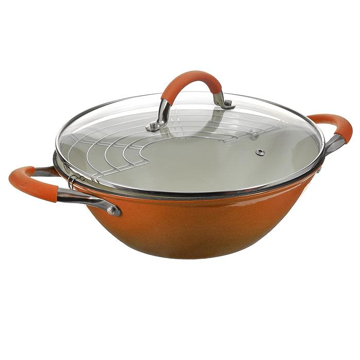 Казан чугунный Mayer & Boch с крышкой, с решеткой-барбекю, цвет: оранжевый, 5,6 л21412Казан Mayer & Boch, изготовленный из чугуна, идеально подходит для приготовления вкусных тушеных блюд. Он имеет внешнее оранжевое и внутреннее белое эмалевое покрытие. Чугун является традиционным высокопрочным, экологически чистым материалом. Причем, чем дольше и чаще вы пользуетесь этой посудой, тем лучше становятся ее свойства. Высокая теплоемкость чугуна позволяет ему сильно нагреваться и медленно остывать, а это в свою очередь обеспечивает равномерное приготовление пищи. Чугун не вступает в какие-либо химические реакции с пищей в процессе приготовления и хранения, а плотное покрытие - безупречное препятствие для бактерий и запахов. Пища, приготовленная в чугунной посуде, благодаря экологической чистоте материала не может нанести вред здоровью человека. Казан оснащен двумя удобными ручками из нержавеющей стали с ненагревающимися силиконовыми вставками. Крышка изготовлена из жаропрочного стекла и оснащена отверстием для выпуска пара и металлическим ободом. Такая крышка...