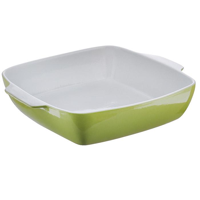 Емкость для запекания Premier Housewares квадратная, цвет: зеленый, 6 л0104403Емкость для запекания Premier Housewares изготовлена из керамики. Теплопроводные свойства данной керамики близки к чугуну. Она планомерно нагревается и остывает, за счет этого приготовленные в ней блюда получаются очень сочными и вкусными. Керамическая емкость для запекания Premier Housewares отлично пригодна для духовки. Керамические предметы выпускаемые фирмой Premier Housewares не трескаются от резкого перепада температур. Это проверено временем. После запекания, блюдо, приготовленное в емкости для запекания Premier Housewares можно сразу выставить на стол.
