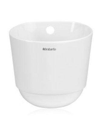 Чашка кухонная Brabantia, большая, цвет: бежевый. 460265460265Чашка кухонная Brabantia подойдет для хранения кухонных принадлежностей или свежих трав. Такая чашка станет незаменимым помощником на кухне, а оригинальный дизайн позволит сделать ее отличным подарком друзьям, коллегам, любимым и, конечно же, себе. Можно мыть в посудомоечной машине. Характеристики: Материал: фарфор. Цвет: бежевый. Диаметр по верхнему краю: 13 см. Высота: 11 см. Размер упаковки: 14 см х 12,5 см х 13,5 см. Артикул: 460265. Гарантия производителя: 5 лет.