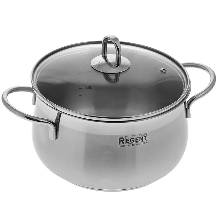 Кастрюля Regent Inox Senso с крышкой, 4 л. 93-SEv-0493-SEv-04Кастрюля Regent Inox Senso изготовлена из нержавеющей стали 18/10 - экологически чистого материала. Комбинация матовой и зеркальной полировки придает посуде безупречный внешний вид. В такой посуде можно готовить без масла и жиров, сохраняя тем самым полезные свойства продуктов и естественные вкусовые качества. Оптимальное соотношение толщины дна и стенок посуды обеспечивает равномерное распределение тепла, устойчивость к деформации и экономию энергии. Многослойное капсулированное дно хорошо аккумулирует тепло, что способствует быстрому закипанию и приготовлению пищи даже при небольшой мощности конфорок. Удобные ручки прикреплены к корпусу методом точечной сварки - минимальный нагрев, прочность и надежность. Крышка изготовлена из термостойкого стекла, оснащена металлическим ободом, ручкой и отверстием для выпуска пара. Внутренние стенки оформлены отметками литража. Посуда из нержавеющей стали функциональна, гигиенична, эргономична, а благодаря оригинальному дизайну она...