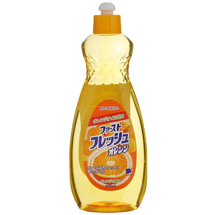 Гель для мытья посуды Daiichi Апельсин, 600 мл107325Гель для мытья посуды Daiichi с маслом апельсина предназначен для мытья столовой посуды, посуды для приготовления пищи, овощей и фруктов. Средство полностью удаляет трудновыводимые пятна жира и имеет приятный аромат апельсина. Экологически чистый продукт. Содержит растительный экстракт, безопасный для кожи рук. Не сушит и не раздражает кожу рук. Не оставляет запаха на овощах и фруктах. Прекрасно смывается водой с любой поверхности полностью и без остатка. Подходит для мытья детской посуды и аксессуаров для кормления новорожденных. Характеристики: Состав: ПАВ (18% алкилбен-зинсульфат натрия, полиоксиэтиленалкинэтил). Объем: 600 мл. Артикул: 107325. Товар сертифицирован.