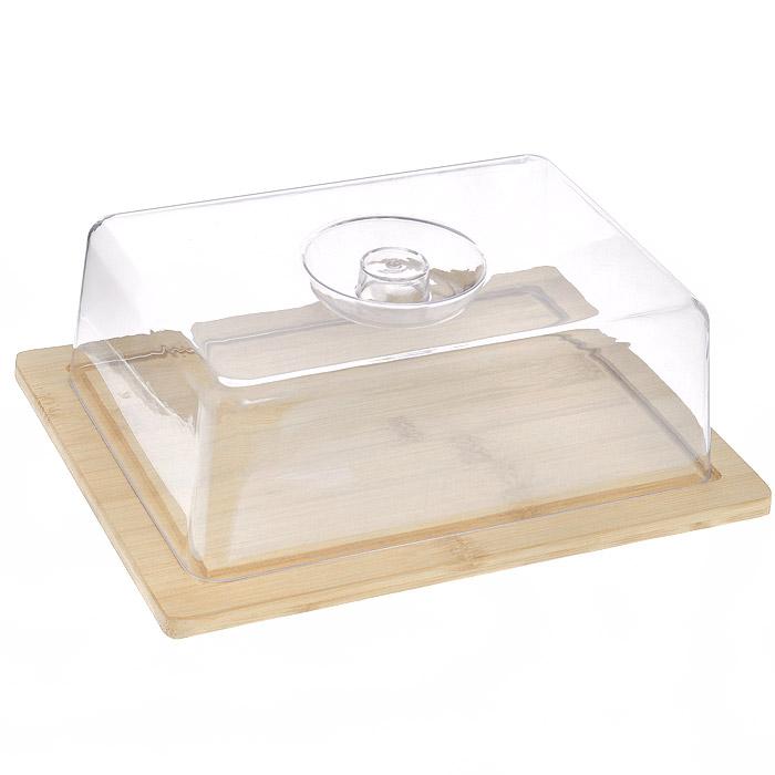 Доска разделочная Hans & Gretchen с крышкой, прямоугольная, цвет: светло-бежевый, 25 х 19,5 см8032Прямоугольная разделочная доска Hans & Gretchen изготовлена из высококачественной древесины. Высокая плотность и большая прочность материала обеспечивает износостойкость и долговечность. Изделие не деформируется при длительном использовании, не впитывает запахи. Обладает водоотталкивающими свойствами. Края доски снабжены желобками для стока жидкости, на них также устанавливается прозрачная пластиковая крышка. Благодаря такой крышке нарезанные продукты можно хранить прямо на доске, не перекладывая в отдельную емкость. При необходимости доску можно использовать для сервировки некоторых блюд, например, суши. Подходит для хранения пищи в холодильнике. Удобная многофункциональная разделочная доска займет достойное место среди аксессуаров на вашей кухне.