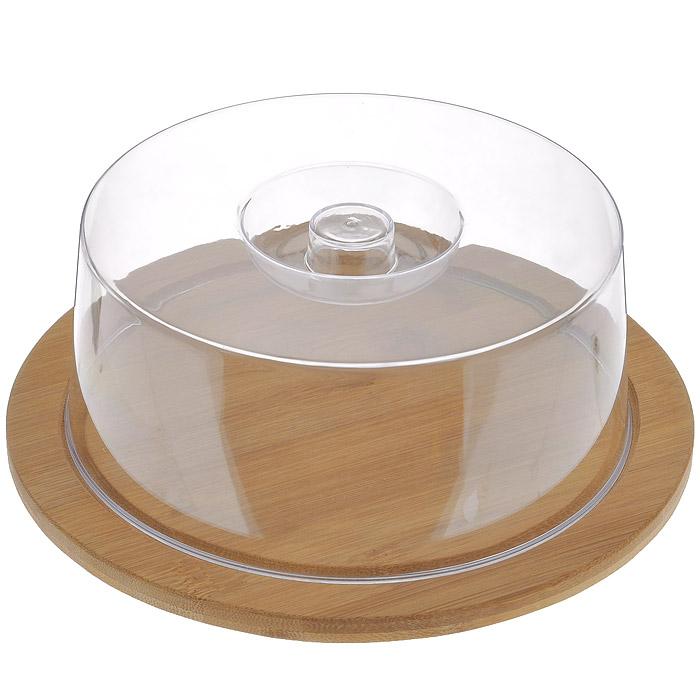 Доска разделочная Hans & Gretchen с крышкой, круглая, цвет: темно-бежевый, диаметр 23 см9031Круглая разделочная доска Hans & Gretchen изготовлена из высококачественной древесины. Высокая плотность и большая прочность материала обеспечивает износостойкость и долговечность. Изделие не деформируется при длительном использовании, не впитывает запахи. Обладает водоотталкивающими свойствами. Края доски снабжены желобками для стока жидкости, на них также устанавливается прозрачная пластиковая крышка. Благодаря такой крышке нарезанные продукты можно хранить прямо на доске, не перекладывая в отдельную емкость. При необходимости доску можно использовать для сервировки некоторых блюд, например, суши. Подходит для хранения пищи в холодильнике. Удобная многофункциональная разделочная доска займет достойное место среди аксессуаров на вашей кухне. Характеристики: Материал: дерево, пластик. Цвет: темно-бежевый. Диаметр доски: 23 см. Толщина доски: 1 см. Высота крышки: 7,5 см. Артикул: 9031.