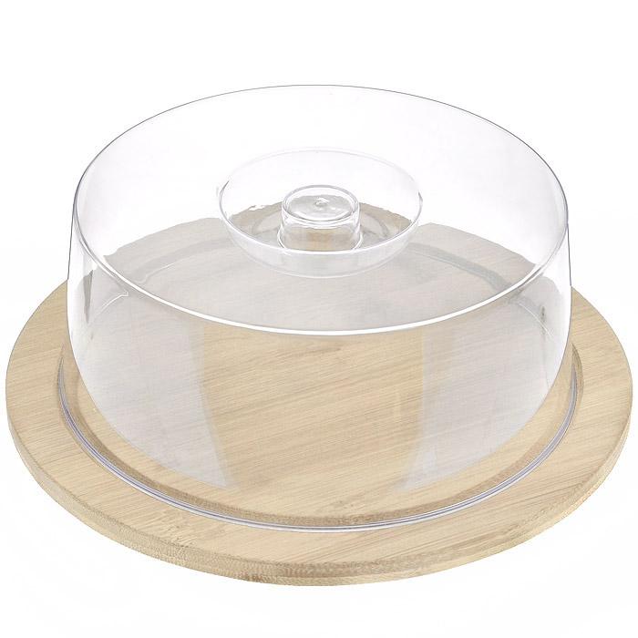 Доска разделочная Hans & Gretchen с крышкой, круглая, цвет: светло-бежевый, диаметр 23 см8031Круглая разделочная доска Hans & Gretchen изготовлена из высококачественной древесины. Высокая плотность и большая прочность материала обеспечивает износостойкость и долговечность. Изделие не деформируется при длительном использовании, не впитывает запахи. Обладает водоотталкивающими свойствами. Края доски снабжены желобками для стока жидкости, на них также устанавливается прозрачная пластиковая крышка. Благодаря такой крышке нарезанные продукты можно хранить прямо на доске, не перекладывая в отдельную емкость. При необходимости доску можно использовать для сервировки некоторых блюд, например, суши. Подходит для хранения пищи в холодильнике. Удобная многофункциональная разделочная доска займет достойное место среди аксессуаров на вашей кухне.