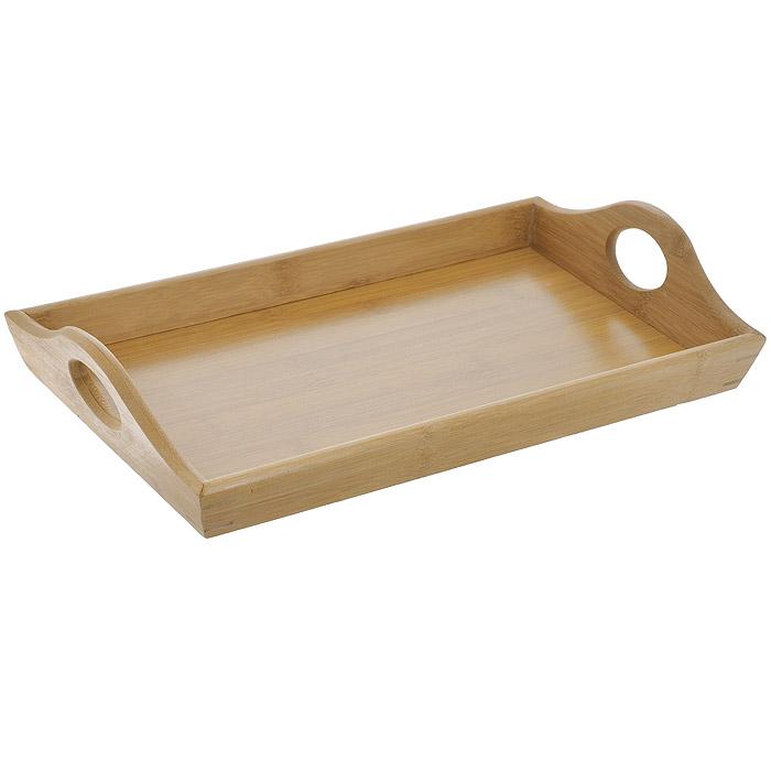 Поднос сервировочный Regent Inox Bamboo, 37,5 х 21,5 см93-BM-7-02.1Сервировочный поднос Regent Inox Bamboo выполнен из натурального бамбука. Прочный корпус не деформируется и не боится царапин. Поднос очень удобен в использовании: благодаря высоким бортикам предметы не свалятся с подноса, даже если вы его случайно наклоните. Благодаря двум ручкам вы сможете с легкостью переносить поднос. Поднос из бамбука является отличной альтернативой тяжелым металлическим и не очень надежным пластмассовым подносам. Исключительные свойства бамбука: - природные антибактериальные и водоотталкивающие свойства; - не впитывает запахи; - повышенная прочность; - износостойкость; - не рассыхается и не расслаивается. Рекомендуется мыть вручную. Для мытья используйте жидкие моющие средства и мягкие губки, не содержащие абразивные частицы.