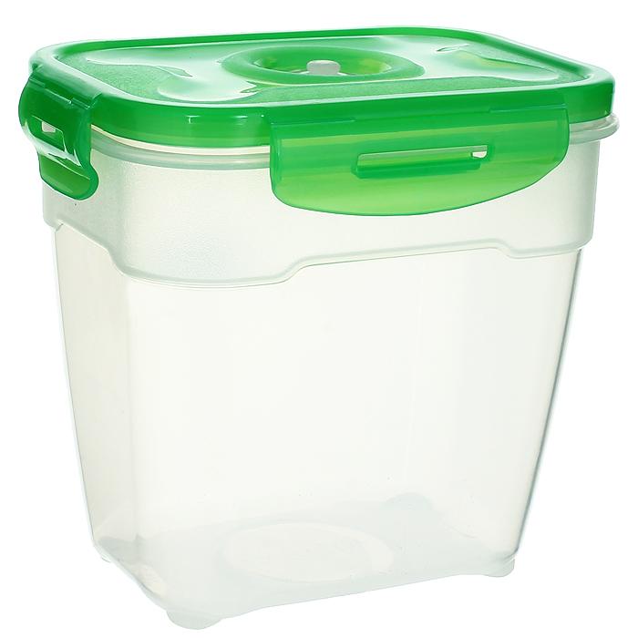 Контейнер вакуумный для пищевых продуктов Atlantis, цвет: зеленый, 1,4 лVS2R-23-GКонтейнер Atlantis прямоугольной формы предназначен для хранения пищевых продуктов. Контейнер изготовлен из пищевого пластика, в состав которого включена антибактериальная добавка Microban. Microban, встроенный в структуру пластика, препятствует размножению микроорганизмов, уничтожает до 99,6% бактерий, находящихся на поверхности изделия. Сила межмолекулярных связей внутри полимера удерживает антисептик на поверхности и он не распространяется в сохраняемый продукт. Не изменяет вкусовых свойств хранимых в контейнере продуктов, препятствует размножению болезнетворных бактерий, сохраняет антибактериальные свойства в течение всего срока использования контейнера. Продукты сохраняются свежими дольше, чем в обычных контейнерах. Позволяет предотвратить загрязнение и неприятный запах, вызываемый бактериями, грибком и плесенью. Продукты в вакуумном контейнере можно ставить в морозилку или разогревать в микроволновой печи, не снимая при этом крышку контейнера. Состояние...
