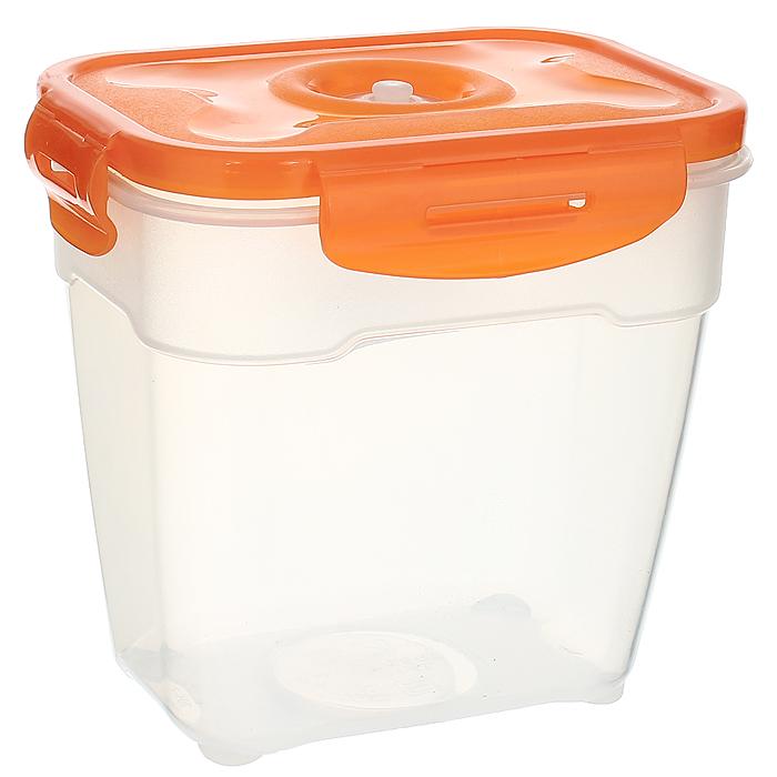 """Контейнер вакуумный для пищевых продуктов """"Atlantis"""", цвет: оранжевый, 1,4 л"""