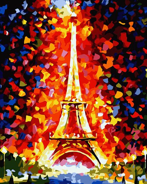 Живопись на холсте Париж - огни Эйфелевой башни, 40 х 50 см862-AB Париж - огни Эйфелевой башниЖивопись на холсте Париж - огни Эйфелевой башни - это набор для раскрашивания по номерам акриловыми красками на холсте. В набор входят: - холст на подрамнике с нанесенным рисунком, - пробный лист с нанесенным рисунком, - набор акриловых красок, - кисти, - настенное крепление для готовой картины. Каждая краска имеет свой номер, соответствующий номеру на картинке. Нужно только аккуратно нанести необходимую краску на отмеченный для нее участок. Таким образом, шаг за шагом у вас получится великолепная картина. С помощью серии наборов Живопись на холсте вы можете стать настоящим художником и создателем прекрасных картин. Вы получите истинное удовольствие от погружения в процесс творчества и созданные своими руками картины украсят интерьер вашего дома или станут прекрасным подарком. Техника раскрашивания на холсте по номерам дает возможность легко рисовать даже сложные сюжеты. Прекрасно развивает художественный вкус, аккуратность и...
