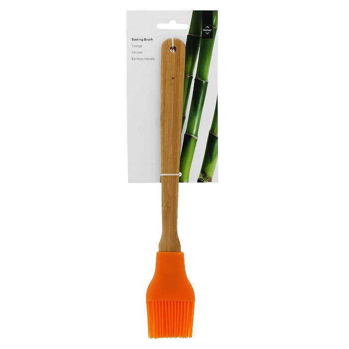 Кисточка для соуса Premier, цвет: оранжевый. 08049720804972Кисточка для соуса Premier станет вашим незаменимым помощником на кухне. Рабочая часть кисточки выполнена из силикона, ручка изготовлена из бамбука. Силикон абсолютно безвреден для здоровья, не впитывает запахи, не оставляет пятен, легко моется. Кисточка для соуса Premier - практичный и необходимый подарок любой хозяйке!