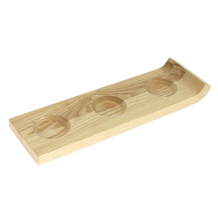 Подставка для сервировки соусов Brabantia, 32 х 10 см 611827611827Подставка для сервировки соусов Brabantia выполнена из дерева. Подставка имеет три углубления для трех видов соуса и удобный бортик-ручку для переноски. Такая подставка станет незаменимым предметом для сервировки стола. Характеристики: Материал: дерево. Размер подноса: 32 см х 1,5 см х 10 см. Артикул: 611827. Гарантия производителя: 5 лет.