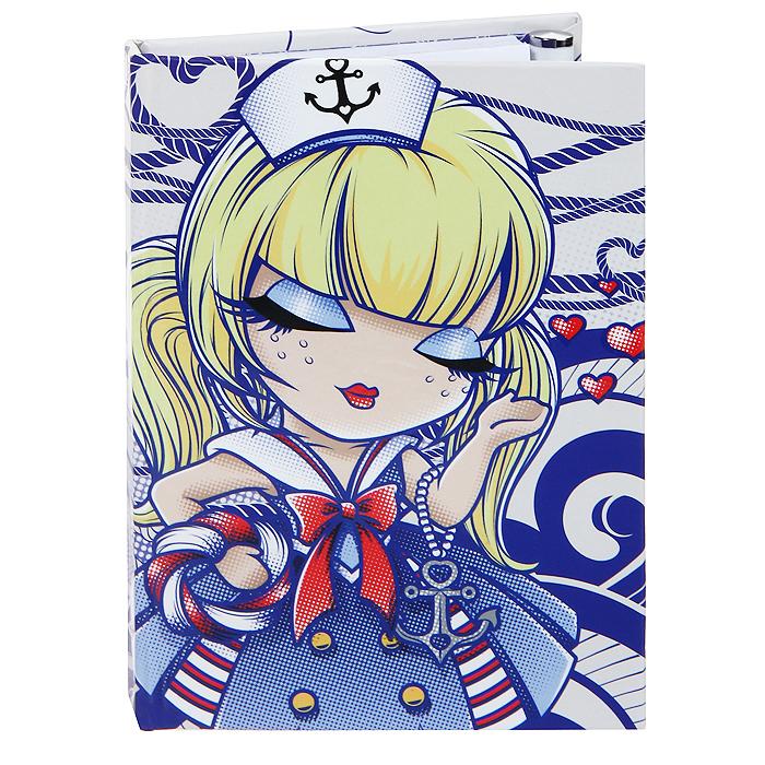 Карманный блокнот с ручкой Kimmidoll Морячка Салли (Путешественница). KLS156KLS156Удобный карманный блокнот для заметок надежно сохранит все самые важные записи, мечты, воспоминания. К тому же, такой блокнот станет и частью Вашего имиджа, благодаря красивой, и привлекающей внимание обложке! Блокнот, выполненный из картона и бумаги, содержит 80 разлинованных страничек с узорами. В комплект входит удобная металлическая шариковая ручка с чернилами черного цвета. Ручка надежно фиксируется на блокноте с помощью резинки-петельки. Привет, меня зовут Морячка Салли! Я талисман путешествий и приключений. Неиссякаемая жажда приключений постоянно ведет Вас против переменчивых ветров в бушующем море жизни. Но дерзкая внешность обманчива- за Вашей бесстрашной, закаленной приключениями натурой, скрывается золотое доброе сердце. Характеристики: Материал: картон, бумага, металл. Размер блокнота: 8 см х 1,2 см х 11,2 см. Количество листов: 80. Длина ручки: 10,5 см. Размер упаковки: 9,5 см х 1,5 см х 12 см. Производитель: Китай. ...