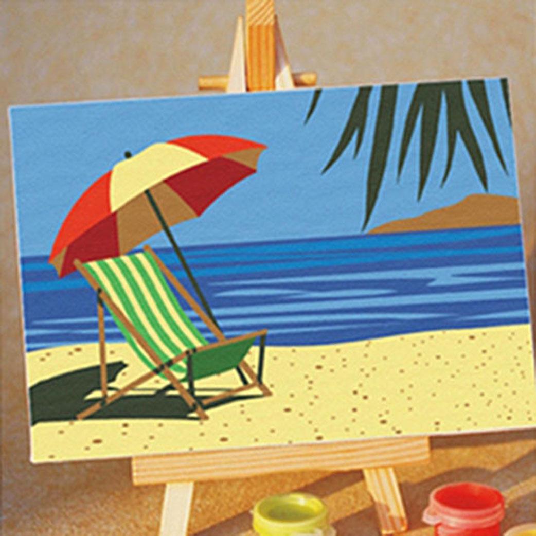Живопись на холсте Craft Premier Пляж, шезлонг и зонтик, 10 х 15 смPBN0037Живопись на холсте Пляж, шезлонг и зонтик - это набор для раскрашивания по номерам акриловыми красками на холсте. В набор входят: - холст с нанесенным рисунком, - мольберт, - набор акриловых красок, - кисть, - инструкция. Каждая краска имеет свой номер, соответствующий номеру на картинке. Нужно только аккуратно нанести необходимую краску на отмеченный для нее участок. Таким образом, шаг за шагом у вас получится великолепная картина. С помощью такого набора вы можете стать настоящим художником и создателем прекрасных картин. Вы получите истинное удовольствие от погружения в процесс творчества и созданные своими руками картины украсят интерьер вашего дома или станут прекрасным подарком. Техника раскрашивания на холсте по номерам дает возможность легко рисовать даже сложные сюжеты. Прекрасно развивает художественный вкус, аккуратность и внимание. Набор предназначен для детей от 5 лет и взрослых.