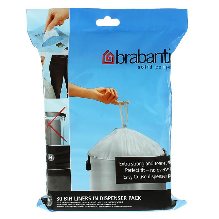 Пакеты для мусора Brabantia, 50 л, 30 шт. 375705375705Одноразовые пакеты Brabantia, выполненные из пластика, предназначены для мусорного бака . Предотвращают загрязнение бака, удобны в использовании и имеют затягивающиеся ручки, которые позволяют затянуть пакет и завязать его.