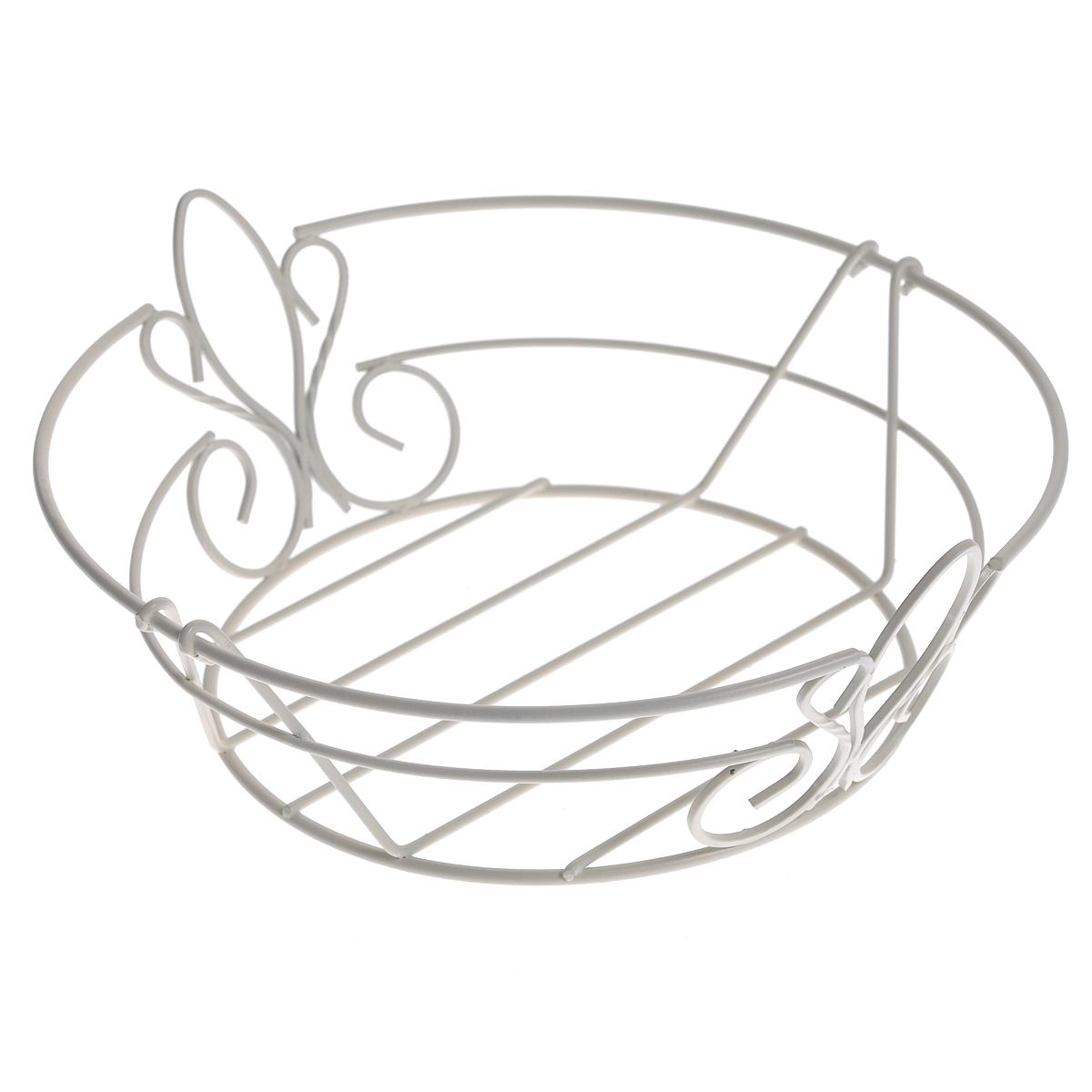 Фруктовница De Lis, цвет: белый0508284Современный дизайн фруктовницы De Lis, изготовленной из стали цвета, идеально впишется в интерьер современной кухни. Фруктовница выполнена в виде чаши, стенки которой состоят из металлических прутьев составляющих красивый узор. Оригинальный дизайн фруктовницы обеспечит эффектную подачу к столу фруктов, выпечки и десерта, подчеркнет торжественность праздника. Рекомендуется мыть вручную. Характеристики: Материал: сталь. Размер: 26 см х 24 см х 9 см. Размер упаковки: 27 см х 26,5 см х 9 см. Производитель: Великобритания. Артикул: 0508284.