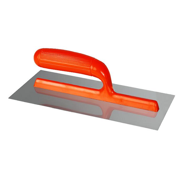 Гладилка плоская FIT, 280 x 130 мм, цвет: в ассортименте05160Плоская гладилка FIT используется в штукатурно-отделочных работах для равномерного распределения строительных растворов, смесей и клеев по различным поверхностям. Полотно изготовлено из нержавеющей стали и имеет габариты 280 х 130 мм. Гладилка имеет малый вес - 0,24 кг и удобную пластиковую ручку, что делает работу менее утомительной.